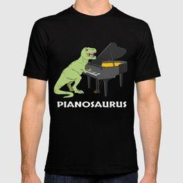 Piano Gift Print Pianist Pianosaurus T Rex Piano Player Tee T-shirt