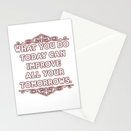 Motivational & Hilarious Improve Tshirt Design DO TODAY Stationery Cards