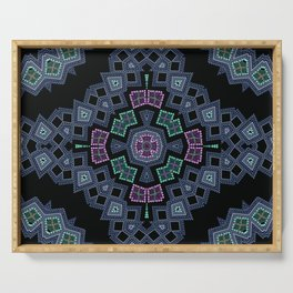 Embroidered beads pattern 1 Serving Tray