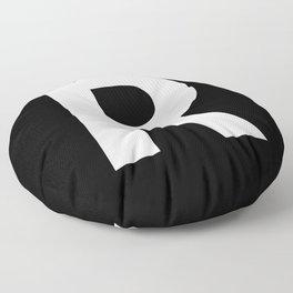 Letter R (White & Black) Floor Pillow