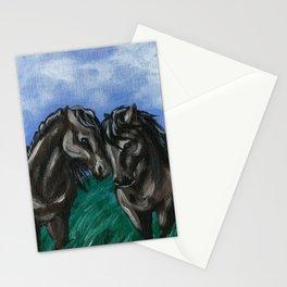 Nuzzling Horses Stationery Cards