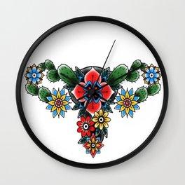 Cactus Uterus Wall Clock