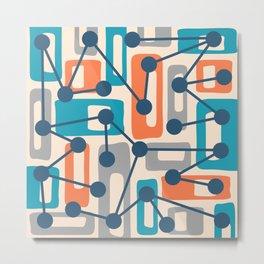 Mid Century Modern Atomic Nucleus Pattern 427 Metal Print