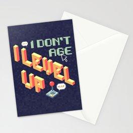 I don't age, I level up Stationery Cards