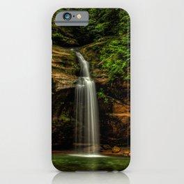 USA Hocking Hills State Park Cliff Nature Waterfalls Crag Rock iPhone Case