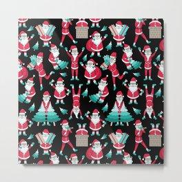 Busy Santas I Metal Print