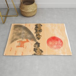 Under The Red Moon Rug