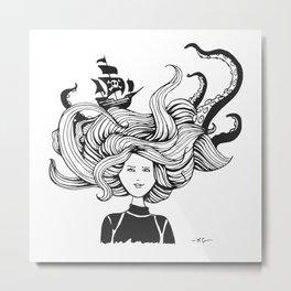 """ Sea Battle"" Hair Metal Print"