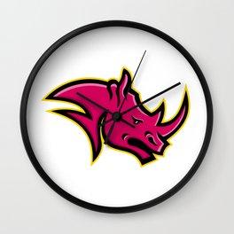 Rhinoceros Head Mascot Wall Clock
