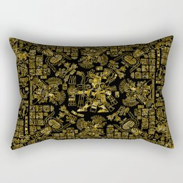 Mayan Spring GOLD Rectangular Pillow