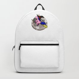 Unicorn Witch Moon, It's Show Time Funny Halloween Horror Scary Backpack