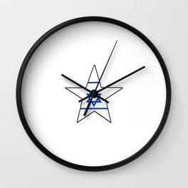flag of israel 10-יִשְׂרָאֵל ,israeli,Herzl,Jerusalem,Hebrew,Judaism,jew,David,Salomon. Wall Clock