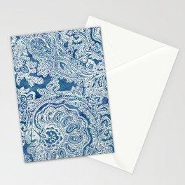 Blue Boho Paisley Pattern Stationery Cards