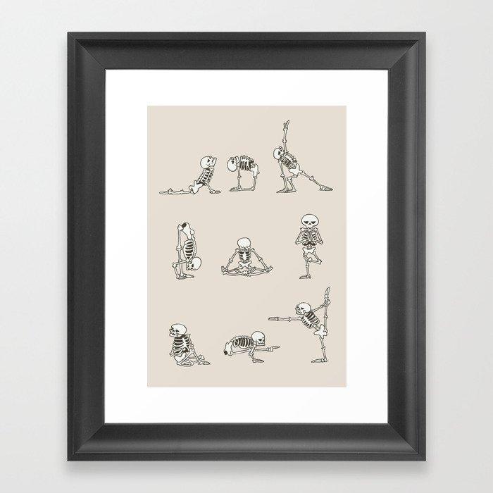Skeleton Yoga Gerahmter Kunstdruck