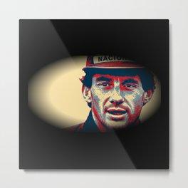 Ayrton Senna Tribute Design II Metal Print