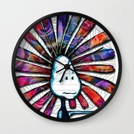 """Big Guy, Little Guy"" Flowerkid Wall Clock"