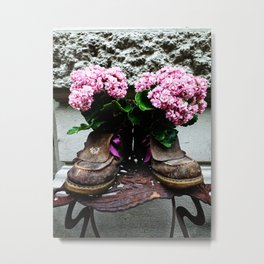 These Boots Are Made For Flowers Metal Print