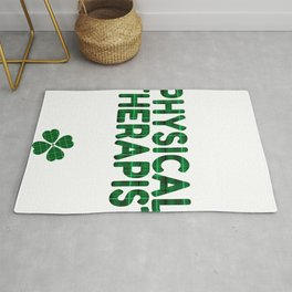 Luckiest Physical Therapist Ever St. Patricks Day Lucky Irish Rug