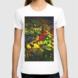 Indigenous Inca People of the Peruvian highlands of Machu Picchu landscape painting by Ortega Maila T-shirt