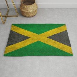 Jamaican flag, Vintage retro style Rug