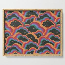 Rainbow Cloud Pattern  Serving Tray