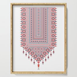 Palestinian tatreez embroidery pattern Serving Tray