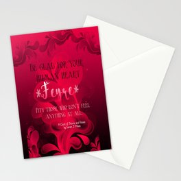 Be Glad for Your Heart Feyre- A Court of Thorns and Roses Quote Stationery Cards