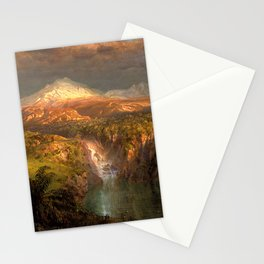 Frederic Edwin Church - Passing Shower in the Andes - Hudson River School Oil Painting Stationery Cards
