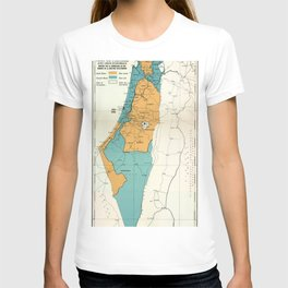 Map of Palestine Plan of Partition with Economic Union T-shirt