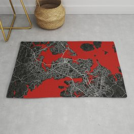 Auckland City Map of New Zealand - Oriental Rug