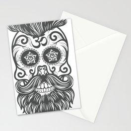 Hipster sugar skull 4 Stationery Cards