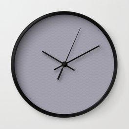 Pantone Lilac Gray Multi Striped Tiny Scallop Wave Pattern Wall Clock