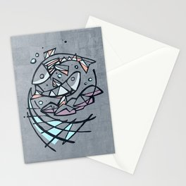 Five breads and two fishes, religious illustration Stationery Cards