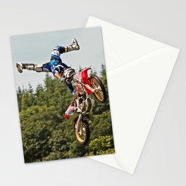 Motocross stuntman Stationery Cards