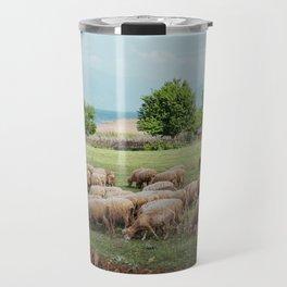 grazing sheep Travel Mug