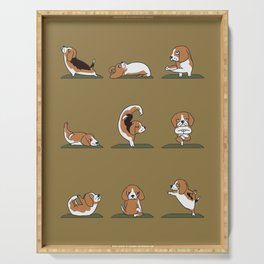 Beagle Yoga Serving Tray