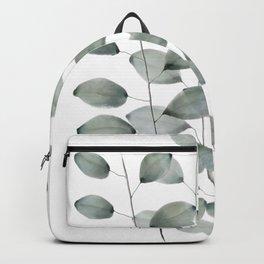 Watercolor Eucalyptus Leaves Backpack