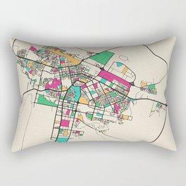 Colorful City Maps: Astana, Kazakhstan Rectangular Pillow