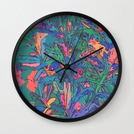 Neon color lavenders Wall Clock