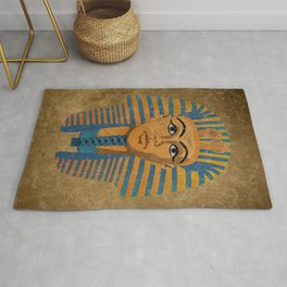 Egyptian Golden Pharaoh Burial Mask Rug
