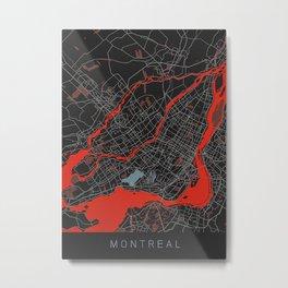 Map Of Montreal Metal Print