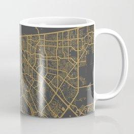 El Paso map ocher Coffee Mug