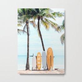 Choose Your Surfboard Metal Print