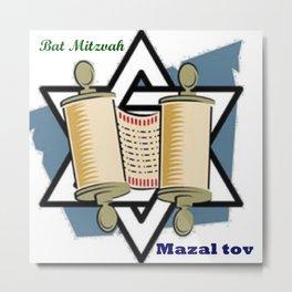 Bat Mitzvah Metal Print