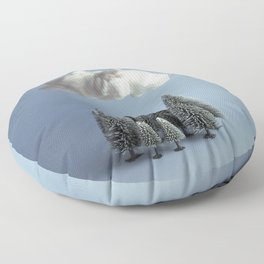 A cloud over the forest Floor Pillow