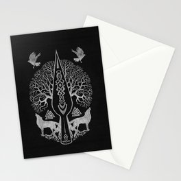 Gungnir - Spear of Odin and Tree of life  -Yggdrasil Stationery Cards