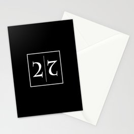""""""" Mirror Collection """" - Minimal Number Two Print Stationery Cards"""