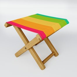 Sweet lollypop candy bright colorful stripes Folding Stool