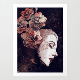 Obey Me: Blood (graffiti flower woman profile) Kunstdrucke