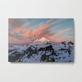 Mount Baker Mountain Adventure Sunset - Nature Photography Metal Print